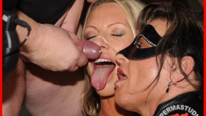 Emma and Jessy. The facial and creampie story